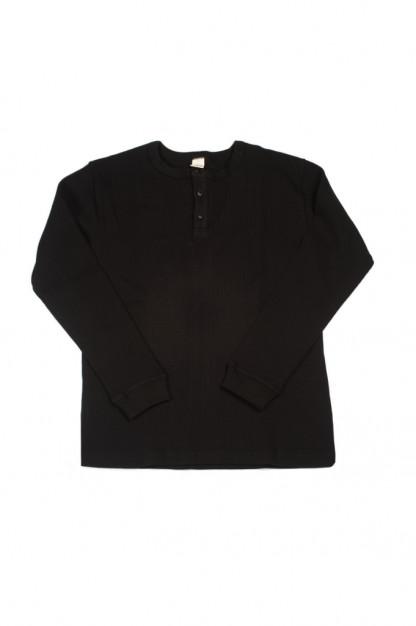 3sixteen Thermal Henley - Long Sleeve Black
