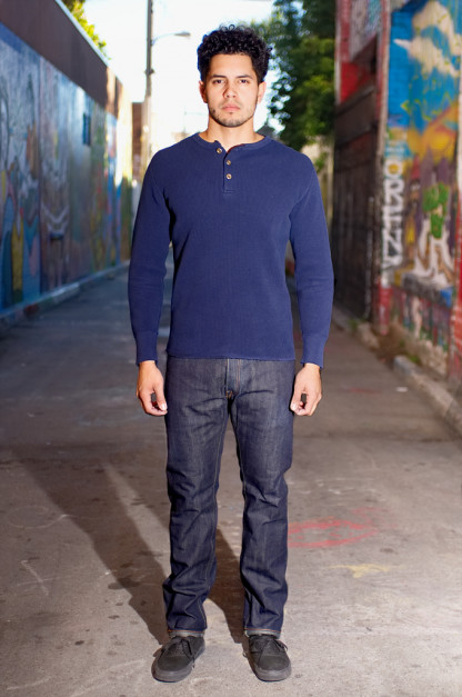 Pure Blue Japan XX-011 13.5oz Left Hand Twill Denim Jeans - Slim Tapered