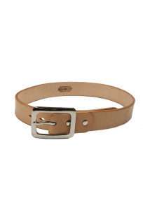 Iron Heart Heavy Duty Cowhide Belt - Nickel/Tan - Image 0