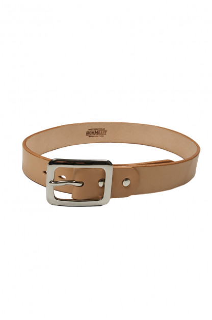 Iron Heart Heavy Duty Cowhide Belt - Nickel/Tan