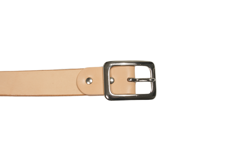 Iron Heart Heavy Duty Cowhide Belt - Nickel/Tan - Image 1