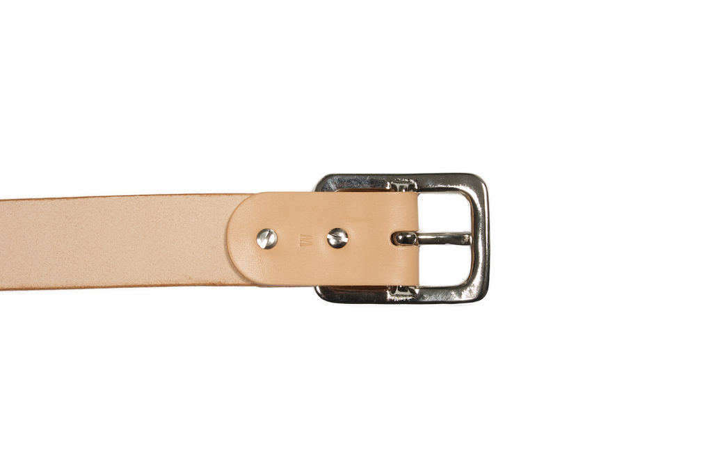 Iron Heart Heavy Duty Cowhide Belt - Nickel/Tan - Image 4