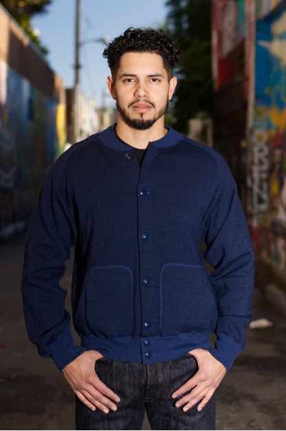 Stevenson Blended Fleece Peak Atsu Jacket - Navy