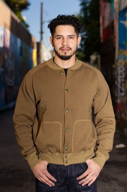 "Stevenson Blended Fleece ""Peak Atsu"" Jacket - Olive"