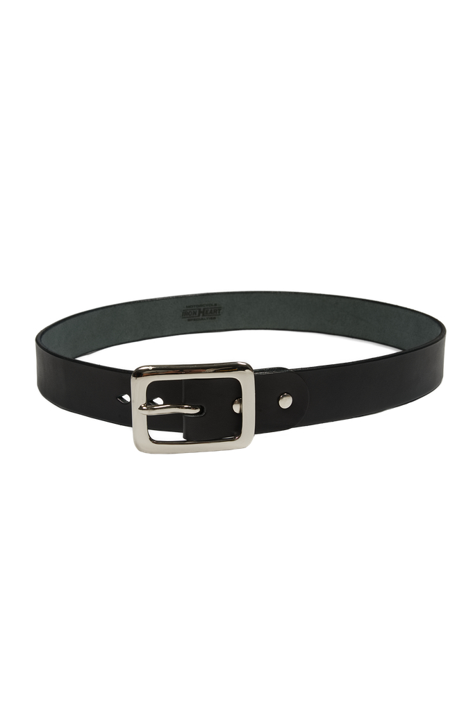 Iron Heart Heavy Duty Cowhide Belt - Nickel/Black - Image 0