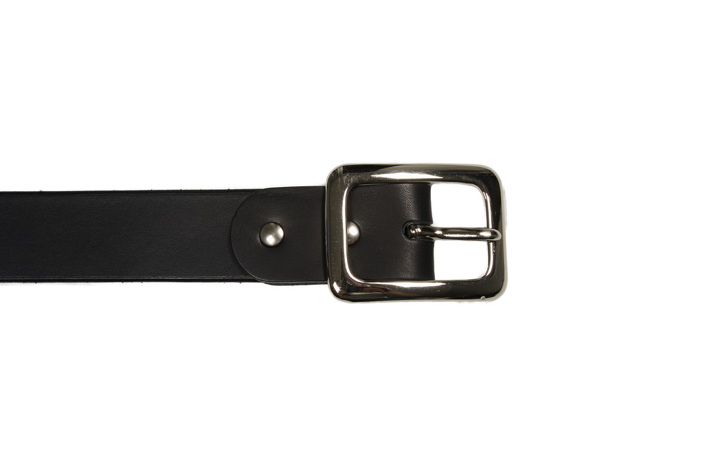 Iron Heart Heavy Duty Cowhide Belt - Nickel/Black - Image 1