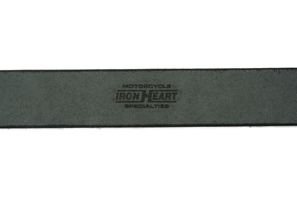 Iron Heart Heavy Duty Cowhide Belt - Nickel/Black - Image 2