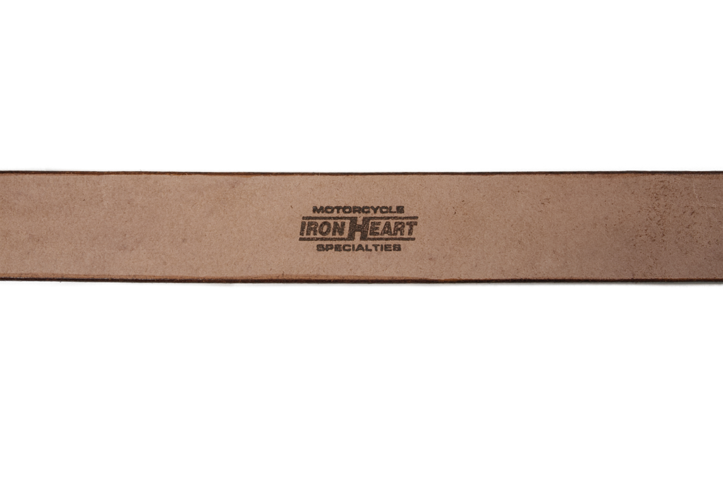Iron Heart Heavy Duty Cowhide Belt - Nickel/Brown - Image 2