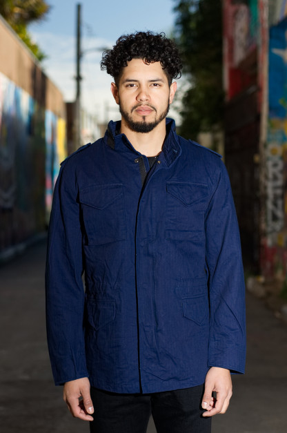 3sixteen x Alpha Industries Indigo-Dyed M65 Jacket