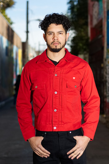 "Human Made ""Burger Air"" Pique Cotton Jacket - Japanese Red"
