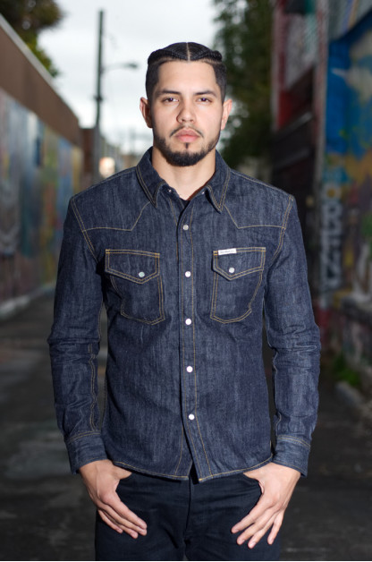 Flat Head 10oz Selvedge Denim Snap Shirt