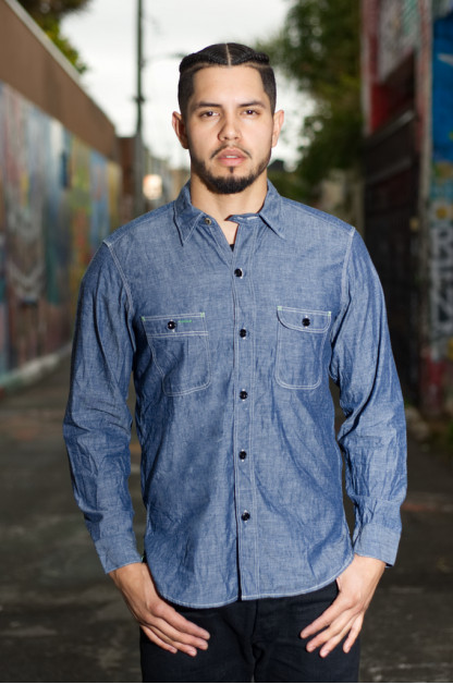 Mister Freedom Blue Chambray Nixon Shirt
