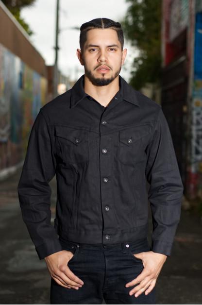 Mister Freedom Cowboy Jacket - Coated Black Denim