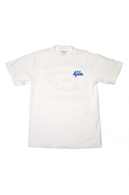 Cafe Nyleta Dripper Tee - White Short Sleeve