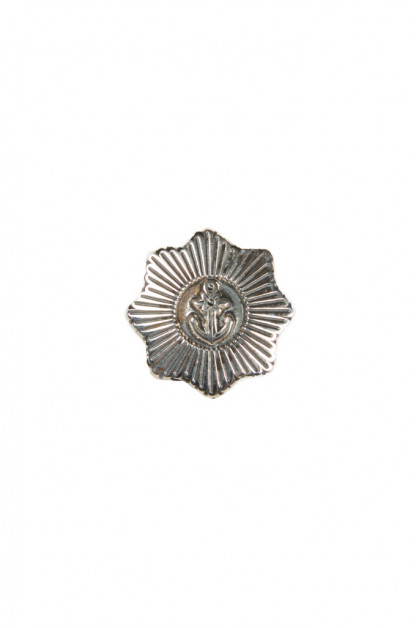 Good Art Sterling Silver Pin - Anchor Star