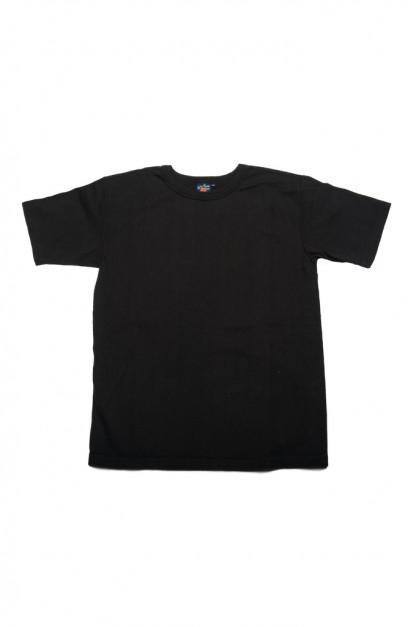 Studio D'Artisan Tsuri-Ami Loopwheeled Blank T-Shirts - Plastic-Packed Black