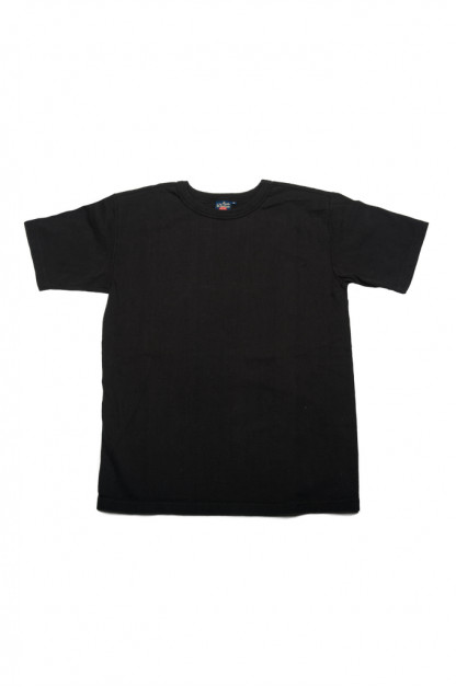 Studio D'Artisan Tsuri-Ami Loopwheeled Blank T-Shirts - Plastic-Packed Black