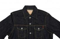 Iron Heart Type III 21oz Indigo Jacket w/ Hand Pockets - Image 3