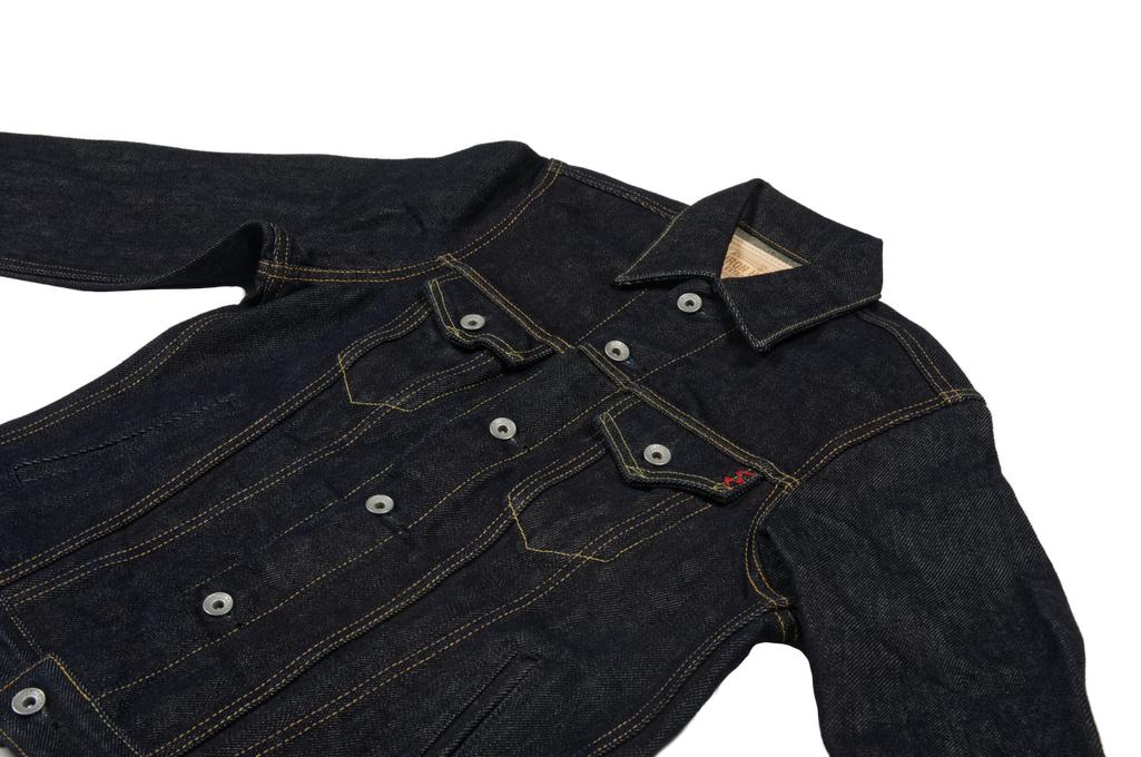 Iron Heart Type III 21oz Indigo Jacket w/ Hand Pockets - Image 5