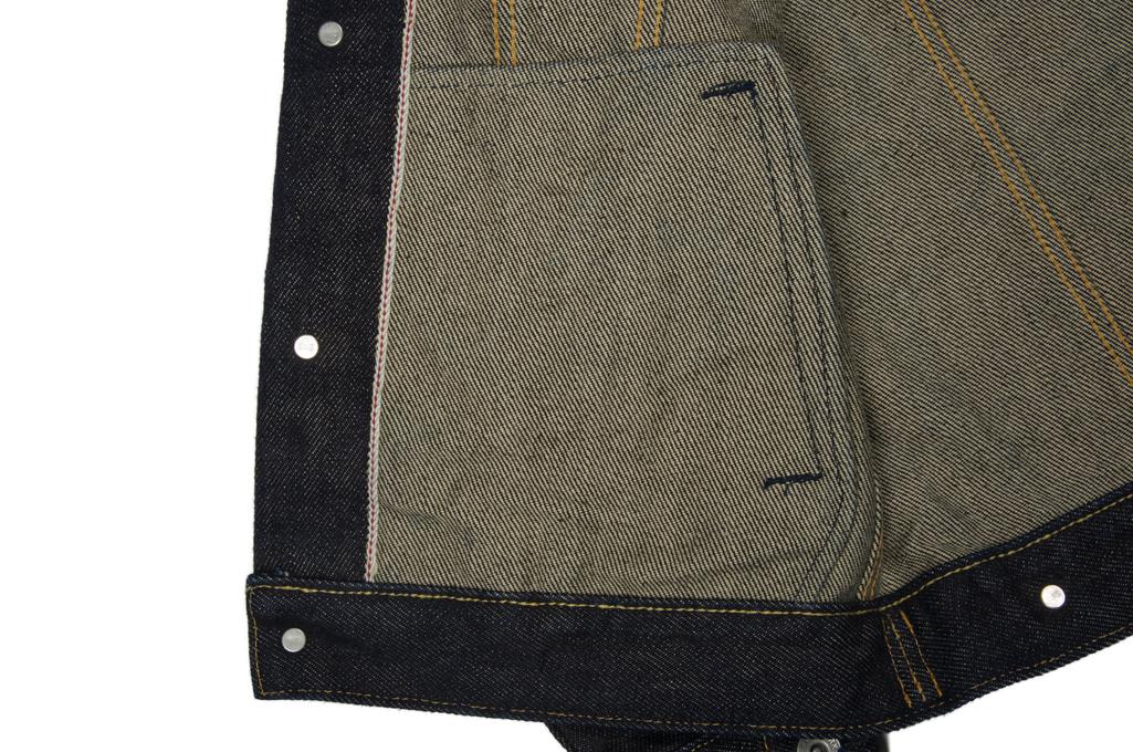 Iron Heart Type III 21oz Indigo Jacket w/ Hand Pockets - Image 9