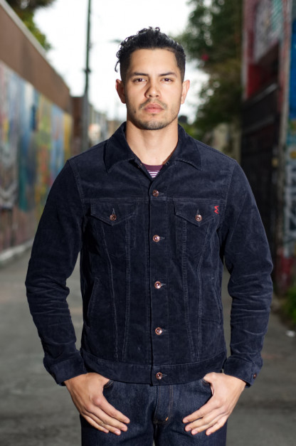 Iron Heart Corduroy Modified Type III Jacket - Black