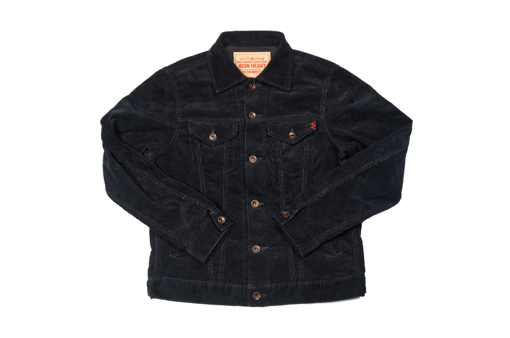 Iron Heart Corduroy Modified Type III Jacket - Black - Image 2