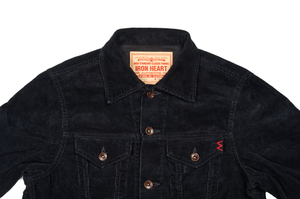 Iron Heart Corduroy Modified Type III Jacket - Black - Image 3