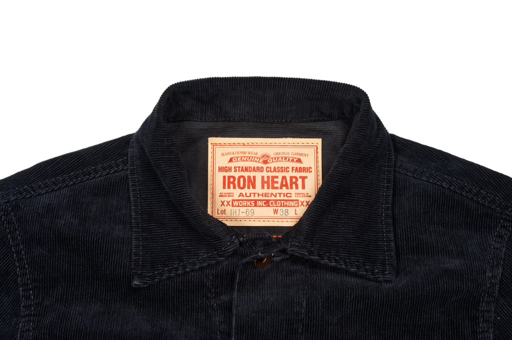 Iron Heart Corduroy Modified Type III Jacket - Black - Image 4