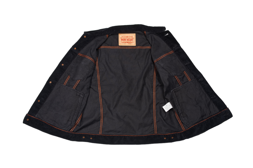 Iron Heart Corduroy Modified Type III Jacket - Black - Image 8