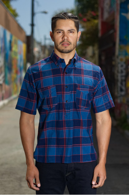 Mister Freedom Berkeley Shirt - Indigo Madras