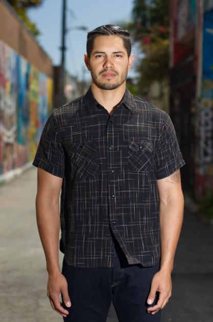Sugar Cane Kasuri Slub Short Sleeve Shirt