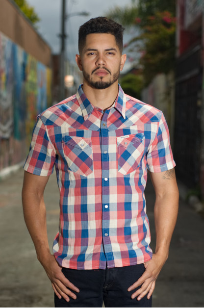 "Flat Head ""Airdrop Edible"" Short Sleeve Shirt - Light Blue"