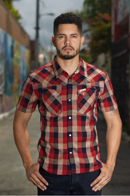 "Flat Head ""Airdrop Edible"" Short Sleeve Shirt - Red"