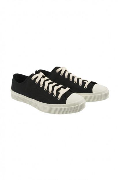 Iron Heart 21oz Denim Sneakers - Low-Top Super Black