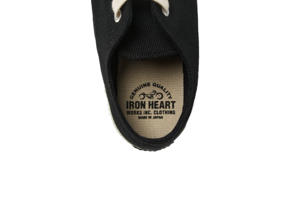Iron Heart 21oz Denim Sneakers - Low-Top Super Black - Image 3