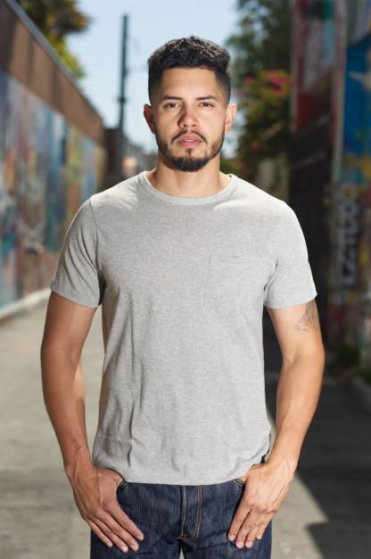Merz b. Schwanen 2-Thread Heavyweight T-Shirt - Gray Pocket