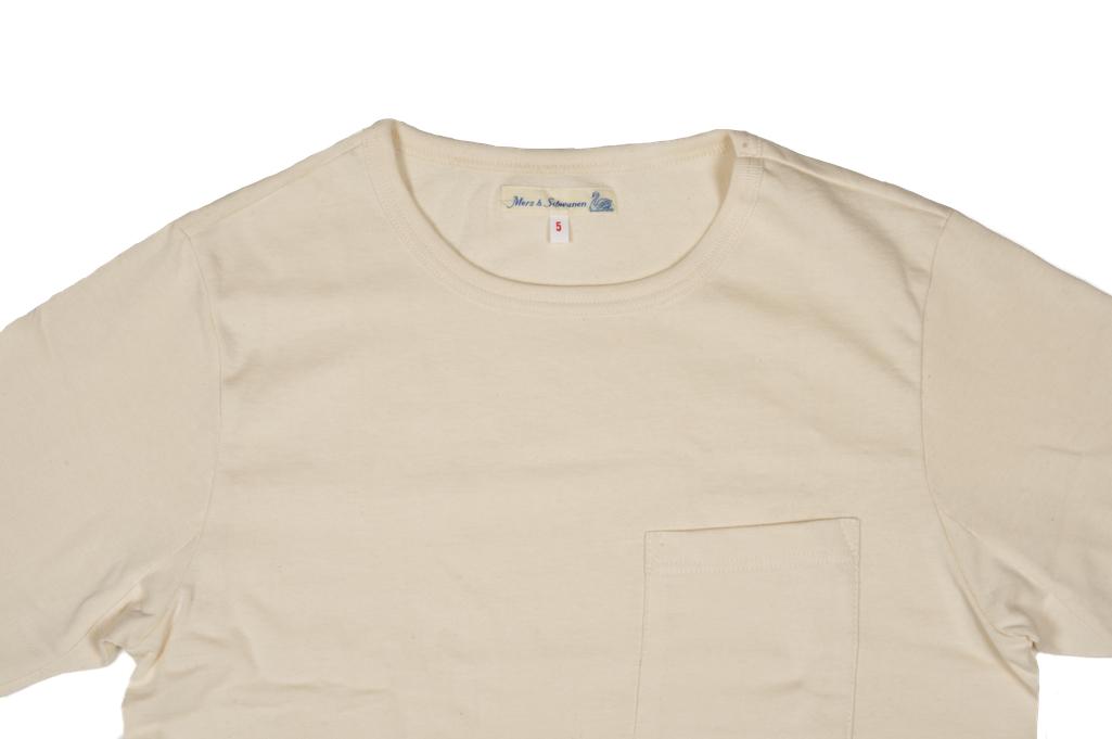 Merz b. Schwanen 2-Thread Heavyweight T-Shirt - Natural Pocket - Image 3