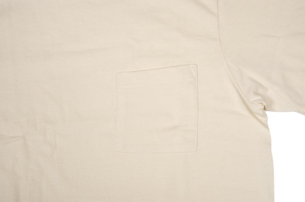 Merz b. Schwanen 2-Thread Heavyweight T-Shirt - Natural Pocket - Image 4