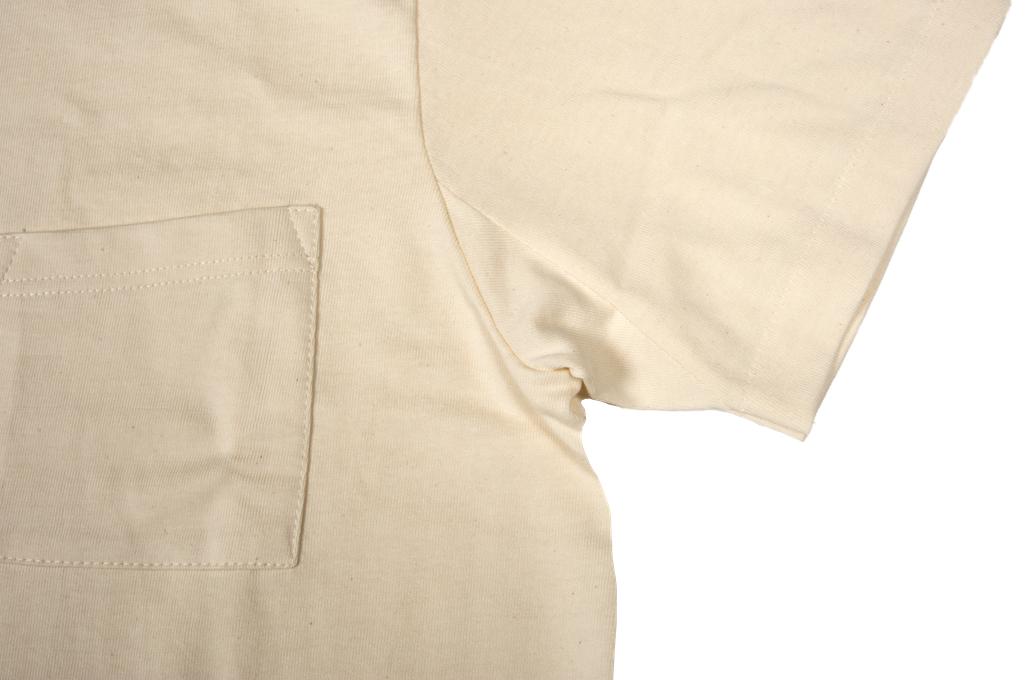 Merz b. Schwanen 2-Thread Heavyweight T-Shirt - Natural Pocket - Image 5