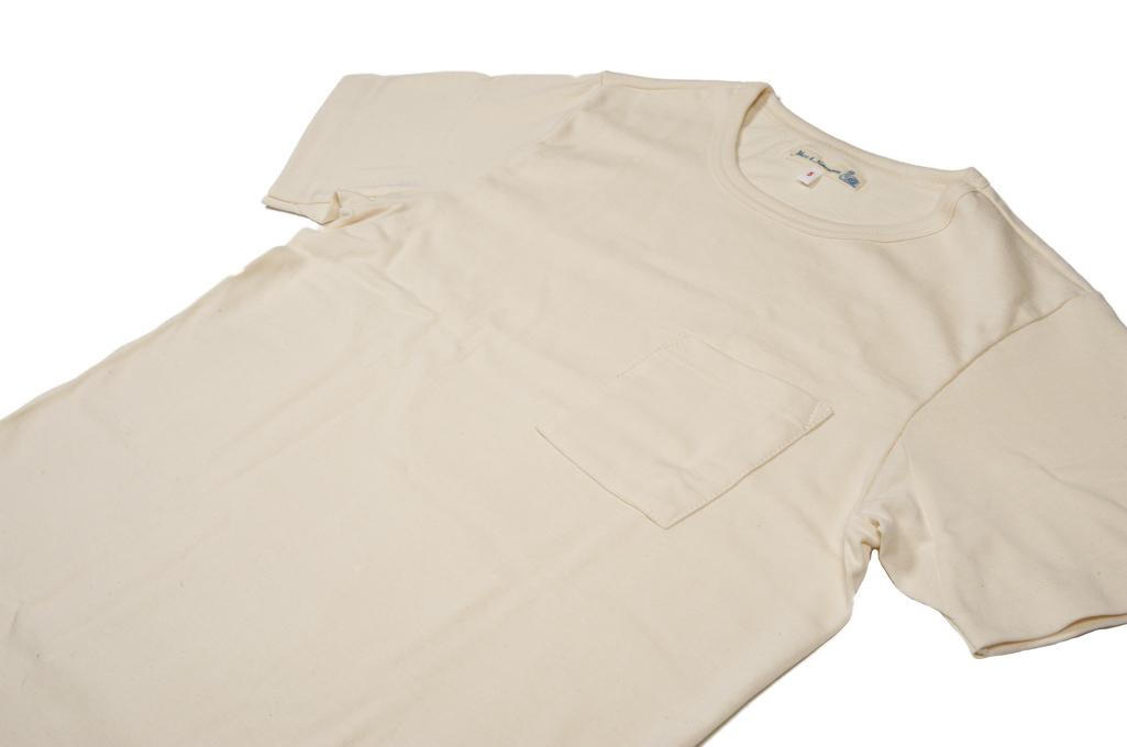 Merz b. Schwanen 2-Thread Heavyweight T-Shirt - Natural Pocket - Image 6