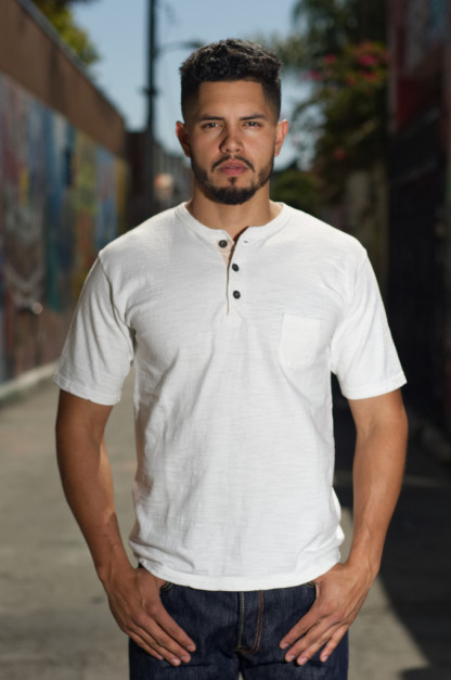 "Orgueil ""Wave Master Flex"" Shirt - White Henley"