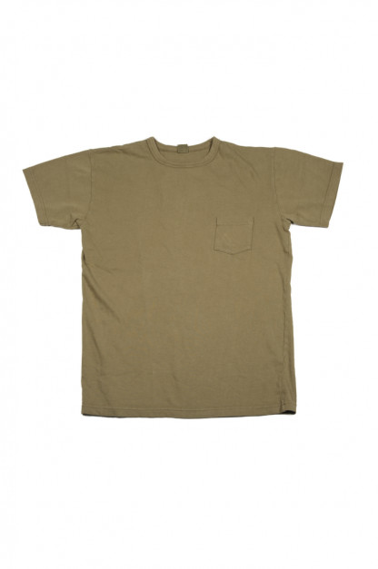 3sixteen Garment Dyed Pocket T-Shirt - Olive