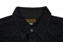 Iron Heart 18oz Denim CPO Shirt w/ Hand Pockets - Overdyed - Image 4