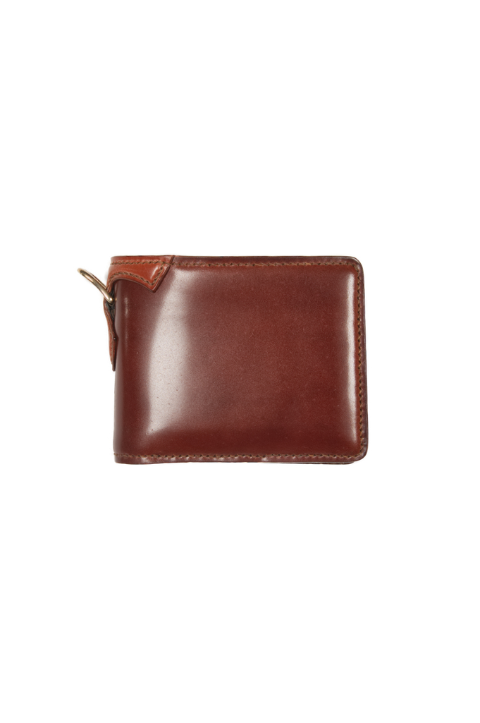 Flat Head Shell Cordovan Half-Fold Wallet - Brown - Image 0