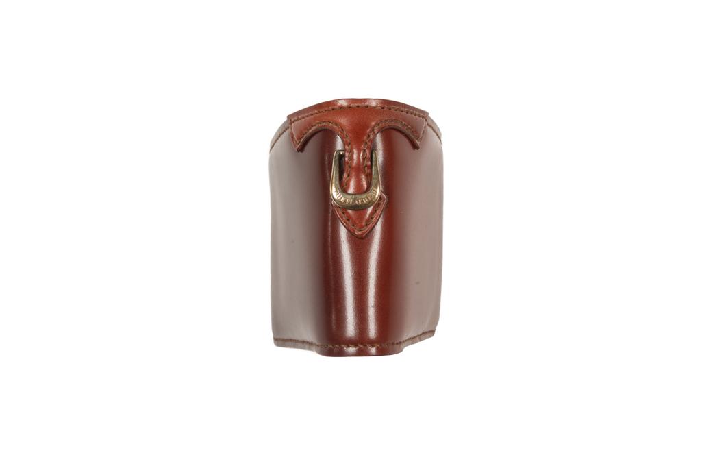 Flat Head Shell Cordovan Half-Fold Wallet - Brown - Image 2