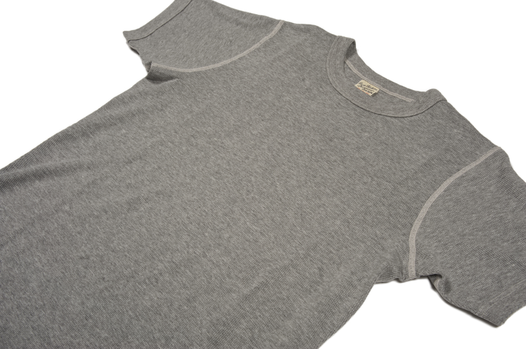 Buzz Rickson Blank Thermal T-Shirt - Gray - Image 3