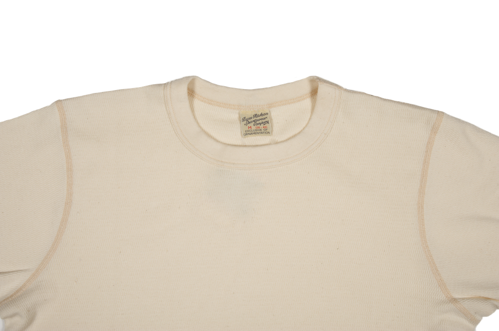 Buzz Rickson Blank Thermal T-Shirt - Natural - Image 1