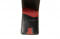 Flat Head Shell Cordovan Small Wallet - Black - Image 2