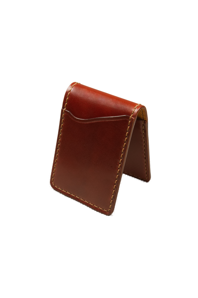 Flat Head Shell Cordovan Small Wallet - Dark Tan - Image 0