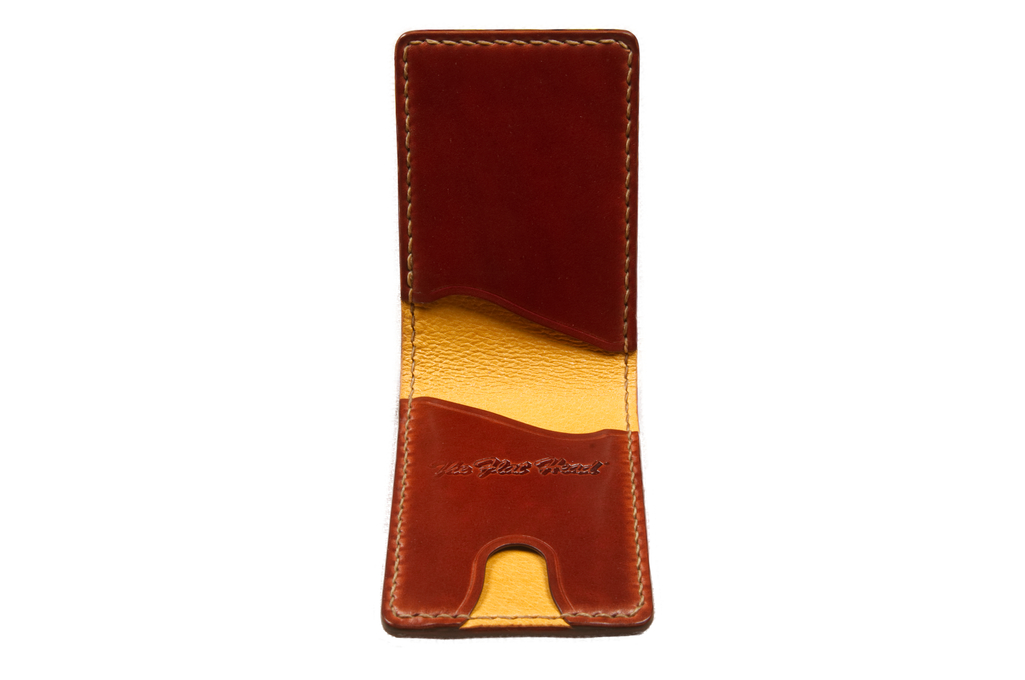 Flat Head Shell Cordovan Small Wallet - Dark Tan - Image 1